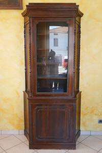 Ancient Carlo X showcase in mahogany early 19th century bookcase glass