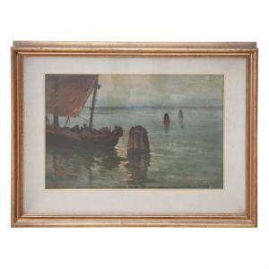 Dipinto olio su tela marina, quadro firmato Luigi Liverani (1889-1958), sec. XX PREZZO TRATTABILE