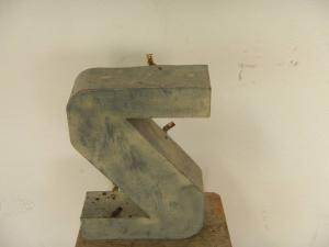 tin letter S from the 70s