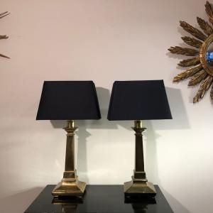 Paar 60er Messinglampen