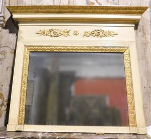 specc260 - espelho lacado e dourado, época '800, medindo cm l 160 xh 136