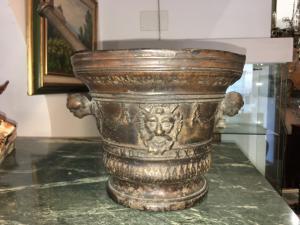 Argamassa de bronze grande, século XVIII