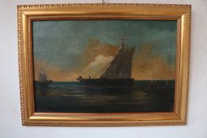 """Gemälde """"Boote im Meer"""""""