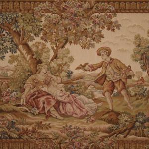 Schöner Wandteppich im romantischen Stil des 20. Jahrhunderts