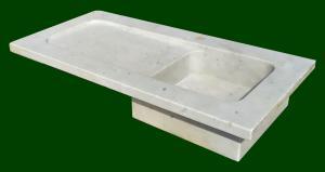 Lavabo rettangolare in marmo bianco cm 120 - Italia XX sec.