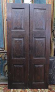 pti627-胡桃木门带两扇门,十八世纪,厘米94 xh 191