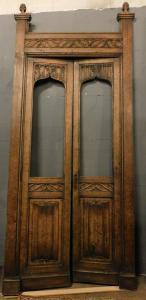 neg034 - porta da loja de vidro, cm 130 xh 310