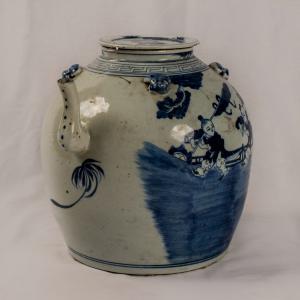 Oliera grande bianco blu periodo Chien Lung della dinastia Ching