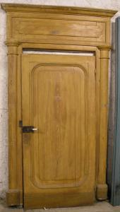 pts529 n. 7 imitation wood lacquered empire doors, mis. max width.140 xh 246 cm