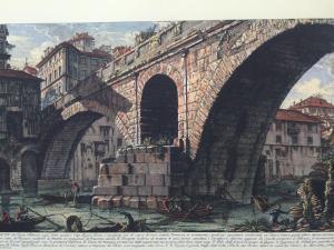 """Stampa Piranesi F. - """"Ponte Fabrizio detto dei quattro Capi"""""""