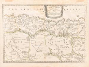 """""""Partie de la Barbarie"""" - Engraved map of Nicolas Sanson"""