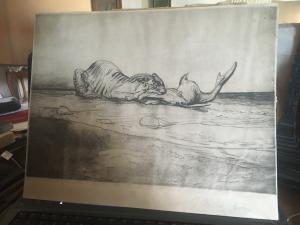 rare print by Aristide Sartorio