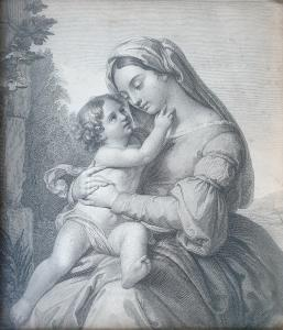 Desenho Madonna com criança
