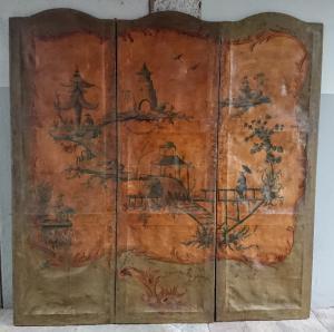 涂有中国风的双面威尼斯屏幕