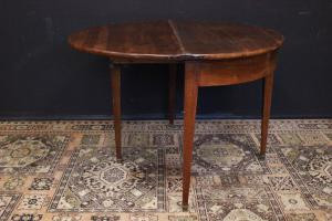 Consolles / openable round table in 19th century wood