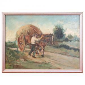 Pintura a óleo sobre madeira assinada Gragnoli Ovidio (1893/1953) PREÇO NEGOCIÁVEL