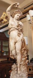 Bolognese scagliola statue (era: late 19th century)