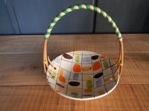 70's ceramic basket