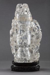 Rock crystal vase