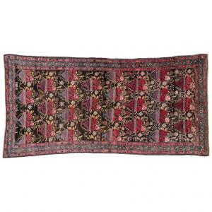 Antique Karabagh Collectible Rug, Full of Bouquets of Roses