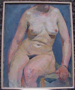 """""""Nudo di donna"""" firmado por M.Aimé"""