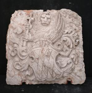Spettacolare stemma araldico Veneziano in marmo Nembro - Venezia - 17° secolo - 53 x 50 cm