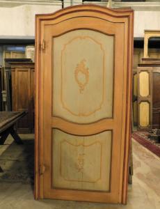 ptl508 - porta laccata Settecentesca, provenienza Piemonte, cm l 119 x h 241