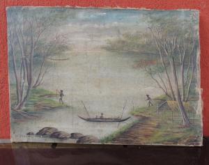 Dipinto su tela primi '900,  D.Capbal