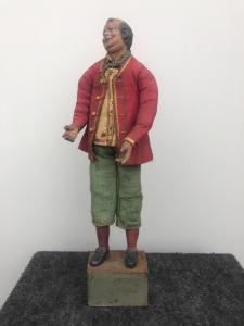 Krippenfigur mit Terrakottakopf, einen Bauern darstellend, Neapel