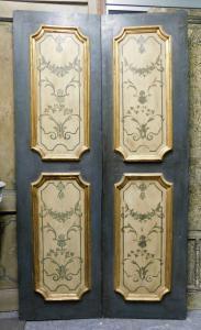 ptl548 - bemalte Tür mit vier Paneelen, 18. Jahrhundert, cm l 117 xh 212