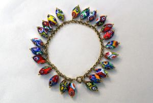 Pulsera con oval murrine
