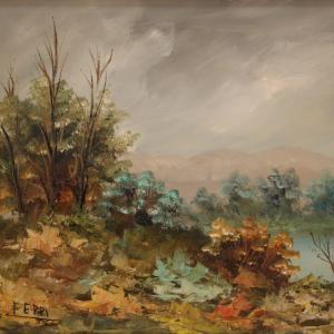 Small impressionist landscape signed E. Ferri