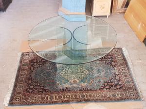 现代复古80年代圆形水晶桌
