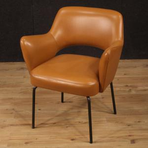 Italian design armchair in faux leather