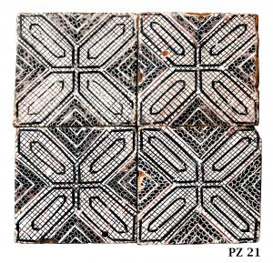 Antica pavimentazione in maiolica