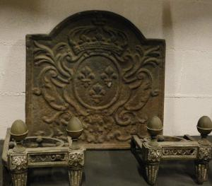 P192 fireplace plate with emblem, mis. 54 x 54 cm