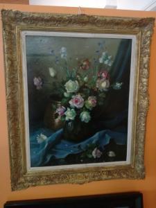 Quadro com flores assinadas