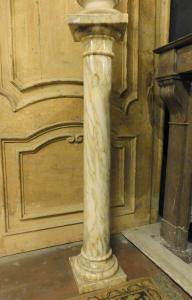 dars168 colonna in marmo chiaro, mis h 107 x cm 21 base