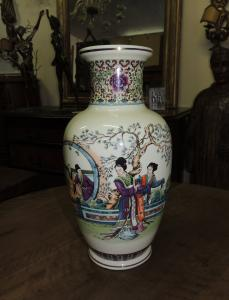 Chinesische Vase Anfang 1900 h 36 cm