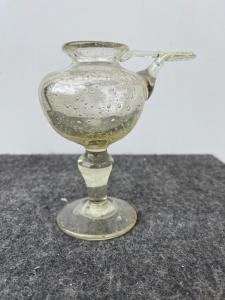 Лампа-лампа из дутого стекла с цоколем. Венеция.