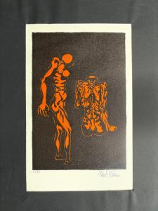 Lithographiedruck (Kopie 51/80) Unterschrift: Pietro Ortolani, Bologna