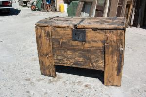 Ancient rustic chest