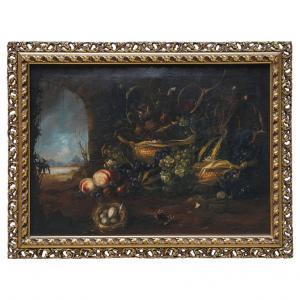 佛兰德风格的画布上的意大利老静物油画