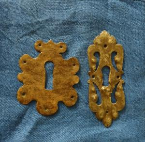 2 Bocchette in ferro forgiato XVII secolo