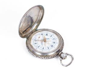 Antique Turkish silver pocket watch, late 1800s