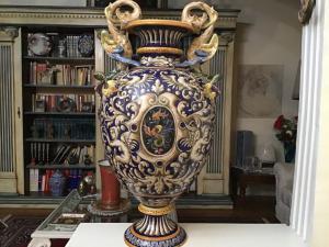 Florero de cerámica pintada
