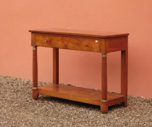 Impero控制台桌,胡桃木,木质台面,长800-L 126厘米!