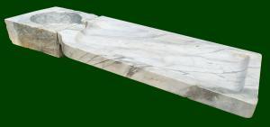 Lavabo genovese in marmo bianco cm 165 - Italia fine XIX sec.