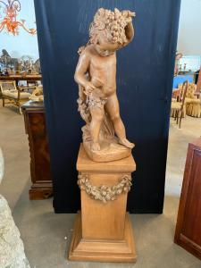 Скульптура из терракоты 50x50x150h