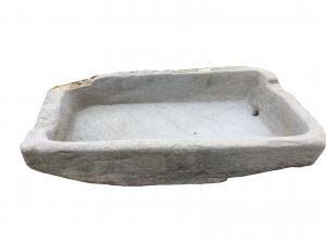 Bañera de piedra L 145 prof 82 H est 34 H int 21
